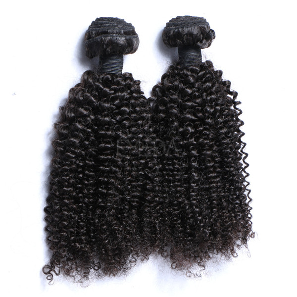 Kinky curl full cuticle first remi hair LJ211