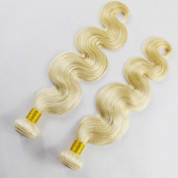 613 blonde hair weave thick virgin brazilian hair bundles with frontals YL173