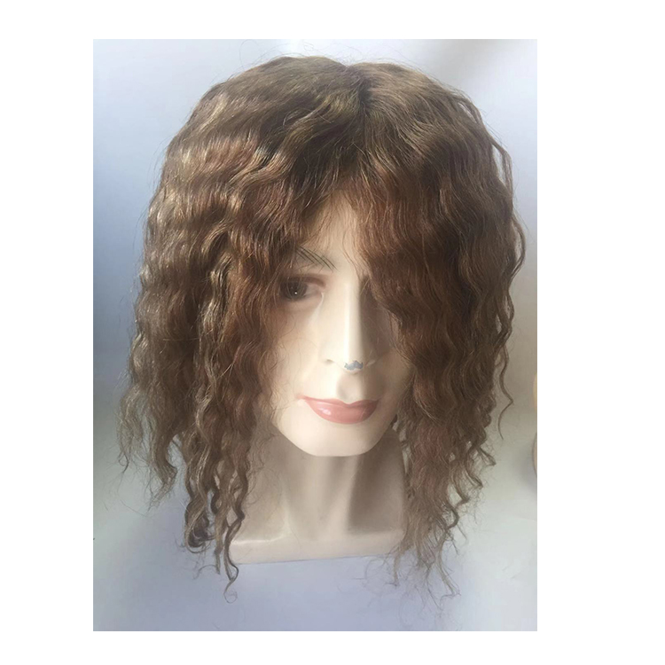 Customized Women and Men Human Hair System Replacement Toupee YL344