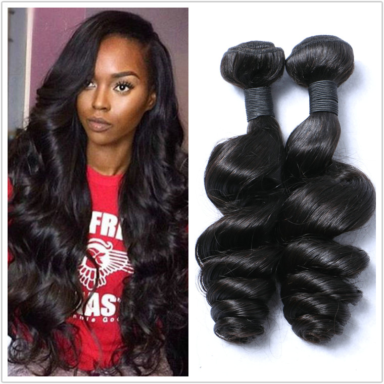 Wholesale 100% Natural Human Hair Price List Loose Wave Unprocessed Raw Indian Temple Hair YL162