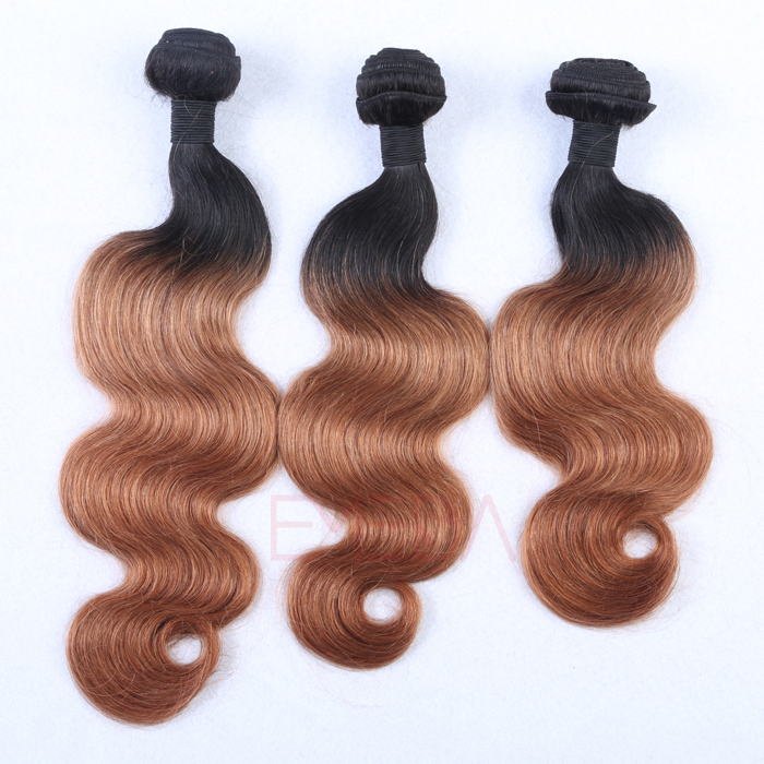 EMEDA 100% Peruvian hair extensions Body wave Hair products 1B/27 HW042