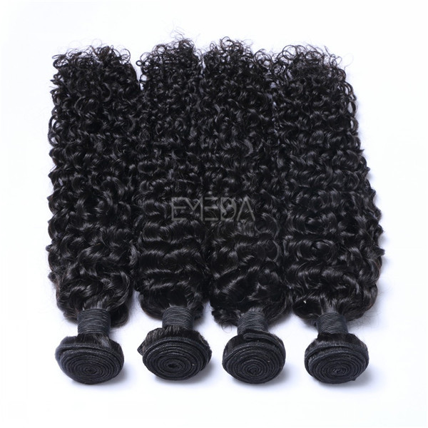 Stock virgin Malaysian human hair deep curl hair wefts zj0021