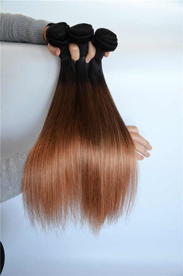 100% human hair T color hair extension