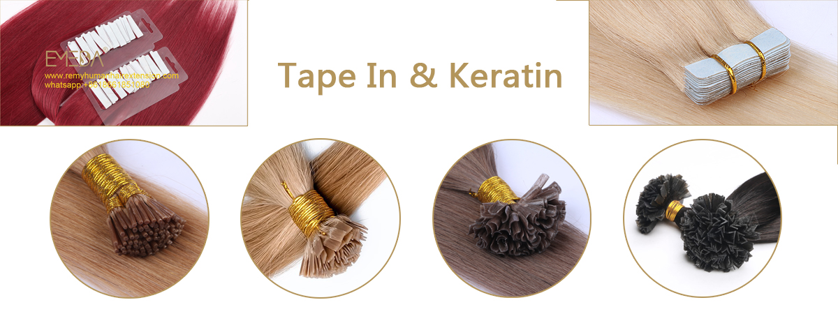 Tape in and Keratin hair extensions