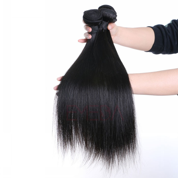 EMEDA 100% Pervian hair silk straight hair extensions hotales hair weaves HW024