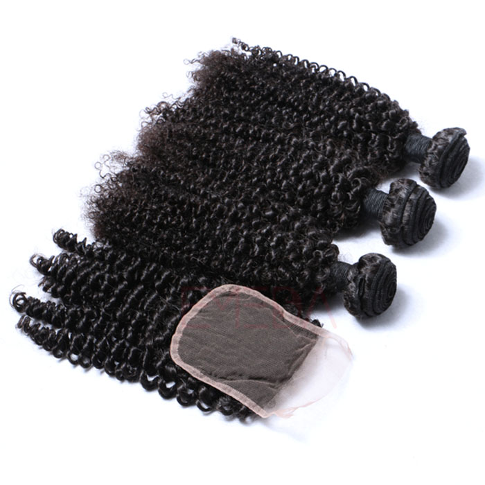 Brazilian hair afro kinky curly hair bundles human hair weave Hw0101
