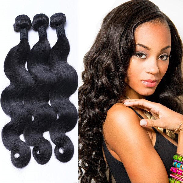 Hot Selling Body Wave Natural Color Dye Virgin Brazilian Hair Extension YL180