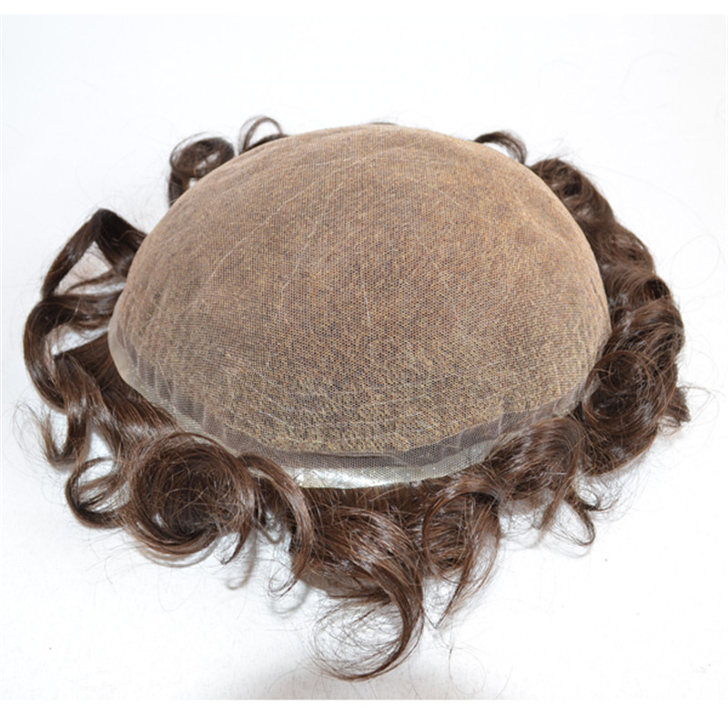 Full Lace Toupee for Men with Swiss Lace Large Stock WK047