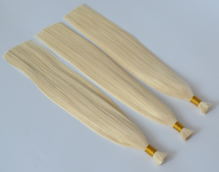 Human hair bulk Silk straight Brazilian remy hair extensions for women hair products material HW0105