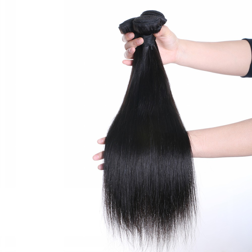 Unprocessed raw virgin brazilian human hair silk straight YL016