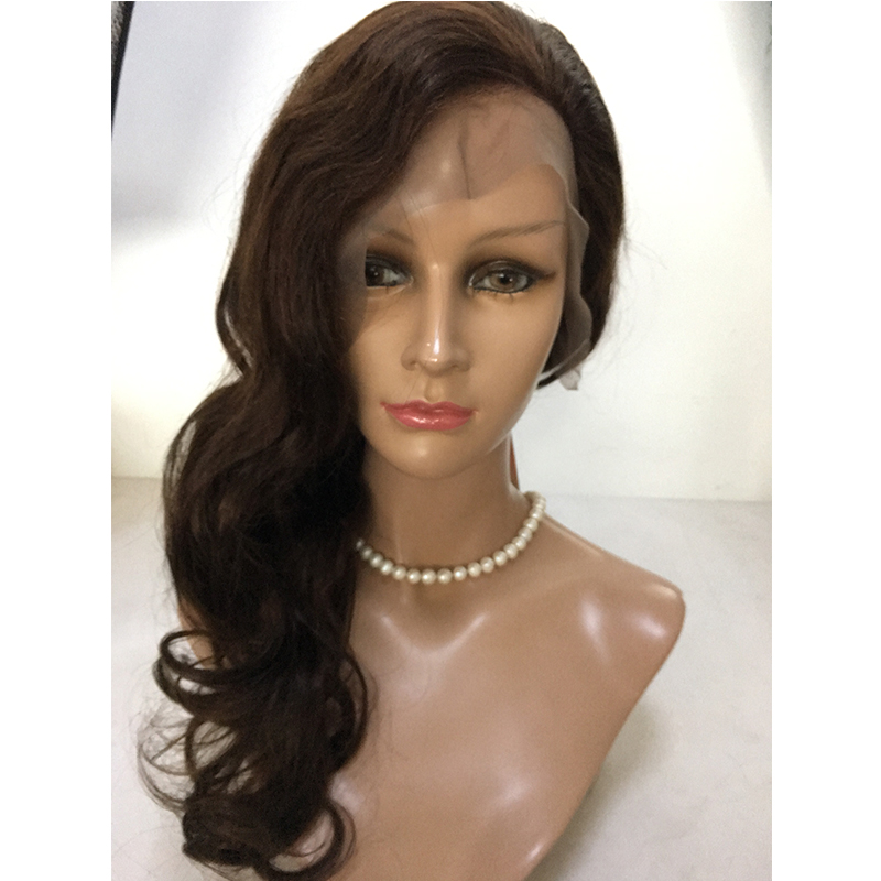 Full lace wig Virgin human hair wig natural wave YL336