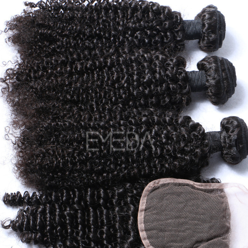 Kinky curl hair bulk curly hair natural black Afro bundles YL294