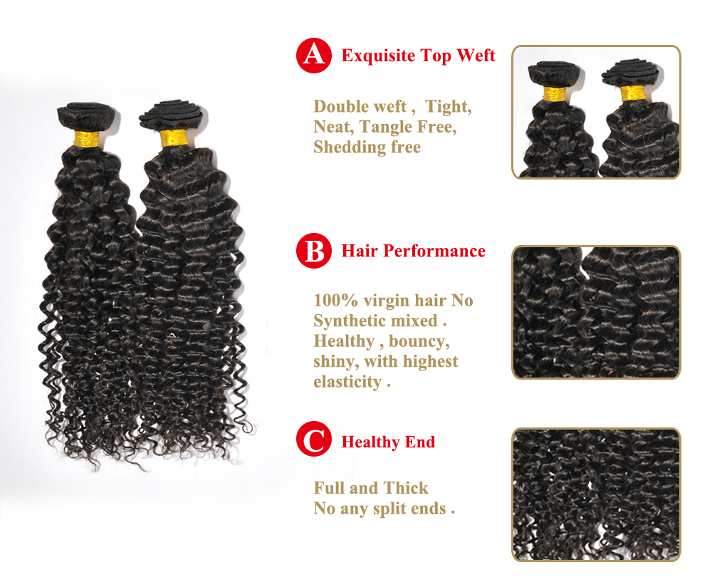 Top quality afro kinky curl hair extensions Brazilian virgin human hair YL073