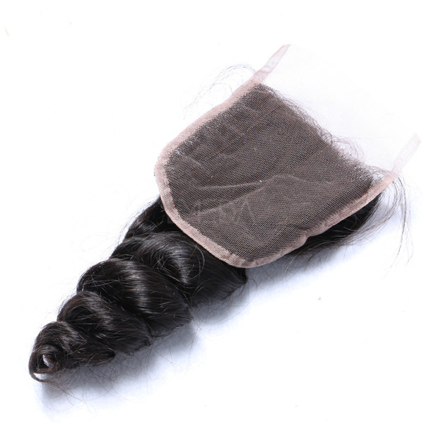 4*4 straight body wave kinky curl deep wave wholesale cuticle aligned hair lace closure YL089