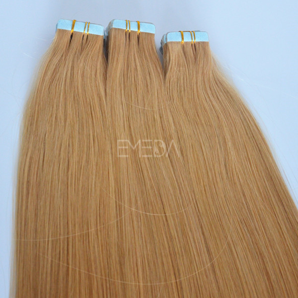 Unprocessed raw virgin remy tape hair extension lp106