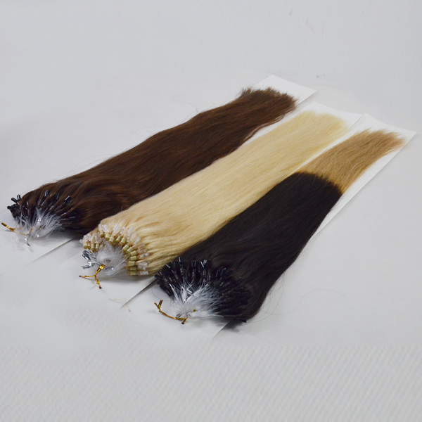 Micro Human Ring Loop Hair Extensions Remy Hair Weave Brown Color Hair Supply  LM255