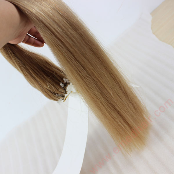 China Micro Ring Loop Hair Extensions Wholesale Human Remy Weft Brazilian Hair Extensions  LM429