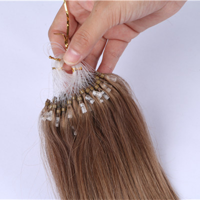 Loop ring Hair High Quality Brazilian Human remy  Double Drawn 10a Grade Micro Loop Ring Hair Extension HN229