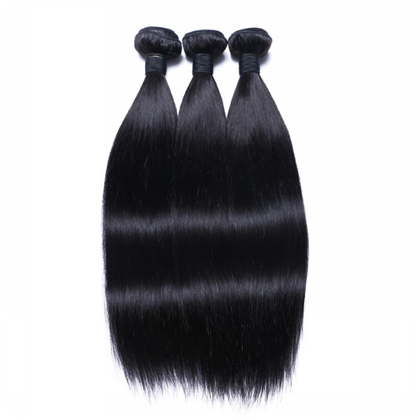 Virgin Human Hair Weaves Unprocessed Professional Straight Hair Extensions   LM053