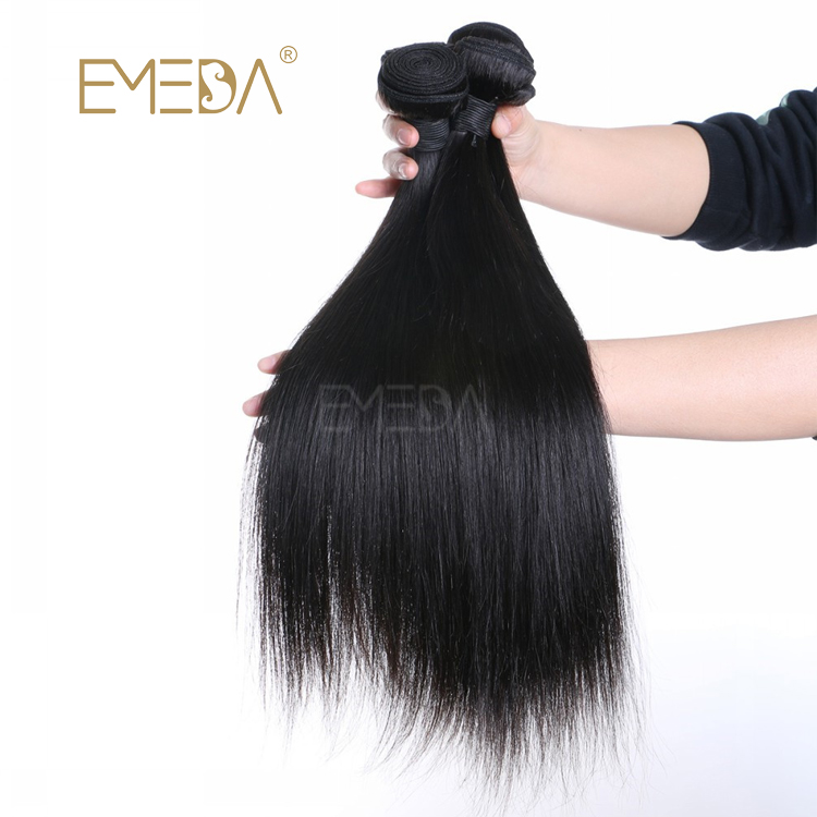 Brazilian Raw Virgin Human Hair Weave Straight Hair Bundles Unprocessed Natural Hair Weft LM407