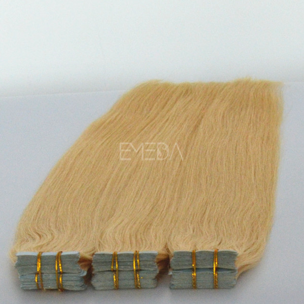 Double side tapped Malaysian hair extensions emeda big sale --lp103