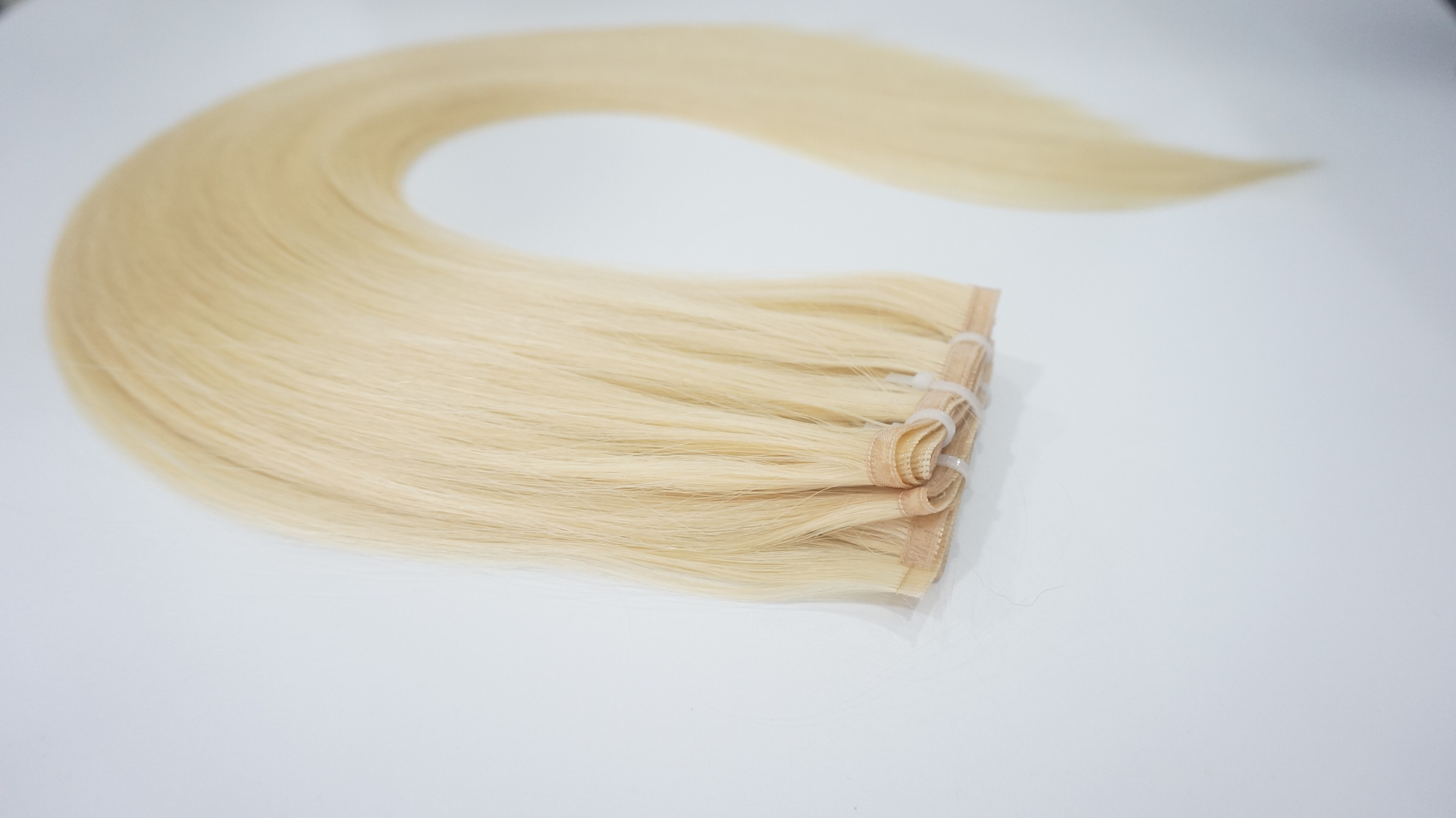 Ribbon Hair with extremely thin band hair weft WK012