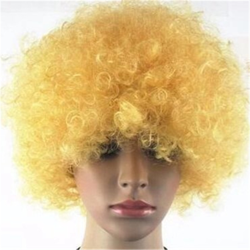 Synthetic Wig with many colors used for Soccer fans WK082