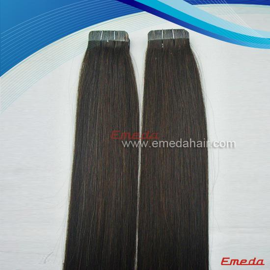 Tape weft hair extensions