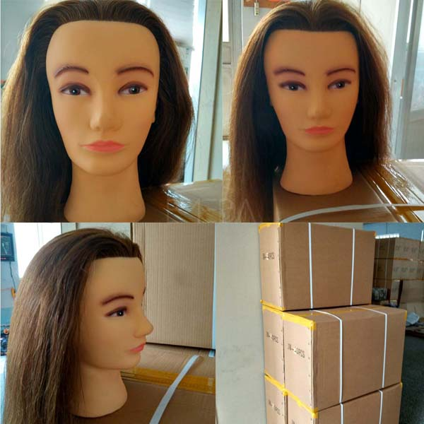 Human hair training mannequin head CanadaLP124