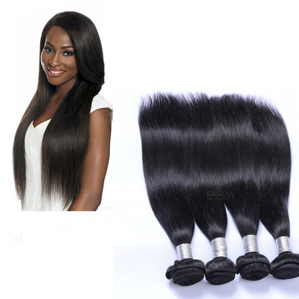 EMEDA cheap 100 malaysian straight remy virgin hair bundles QM004