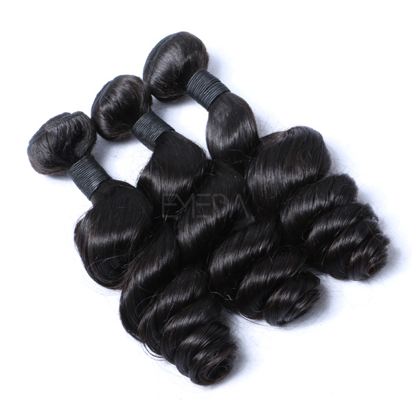 Peruvian loose wave machine made human hair weft CX100