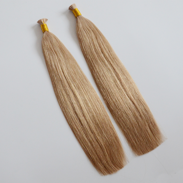 virgin hair bulk light blond color factory supply directly JF005