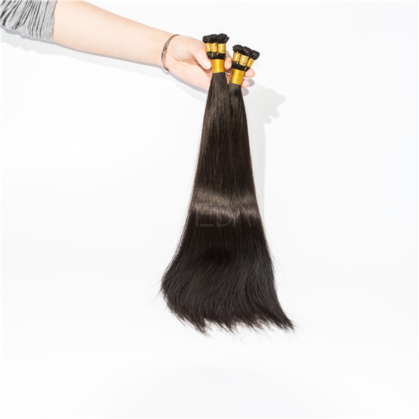 Hand tied weft brown hair extensions longer life time high quality YL131