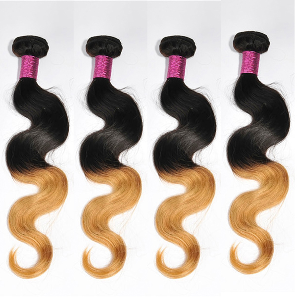 Ombre color body wave 100 human hair weave YJ167