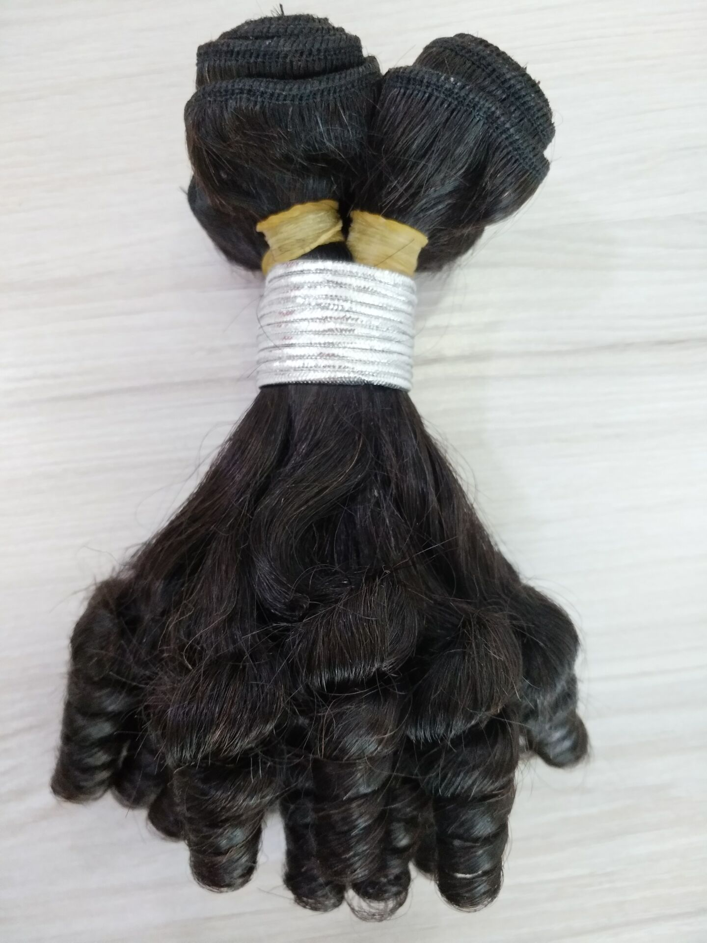 Qingdao Factory unprocessed virgin hair  vendors Afro curl Egg curl hair bundles YL184