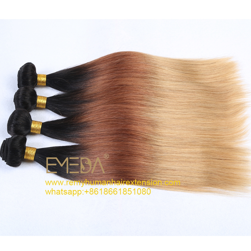 3T Color with Black Root Gradual Color All Texture WK021