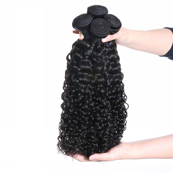 Real Human Hair Bundles Curly Hair Extension Weave Hair Kinky Curl Weft LM445