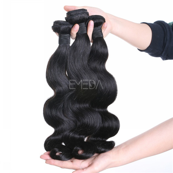 Stock virgin unprocessed cuticle Malaysian human hair body wave hair wefts, hair weave zj0011