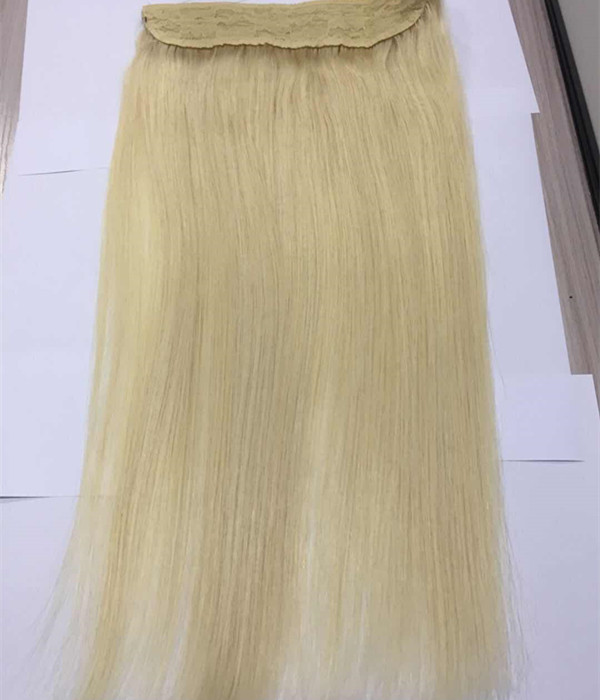 YL Human Hair Extensions Halo Invisible Wire Hair Extensions Blonde Color Mixed Blonde 100gram per packYL355