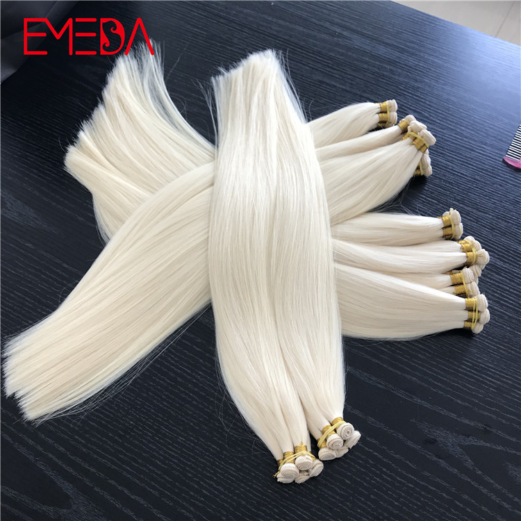 Virgin cuticle double drawn hand tied hair best hair extensions suppliers YJ286