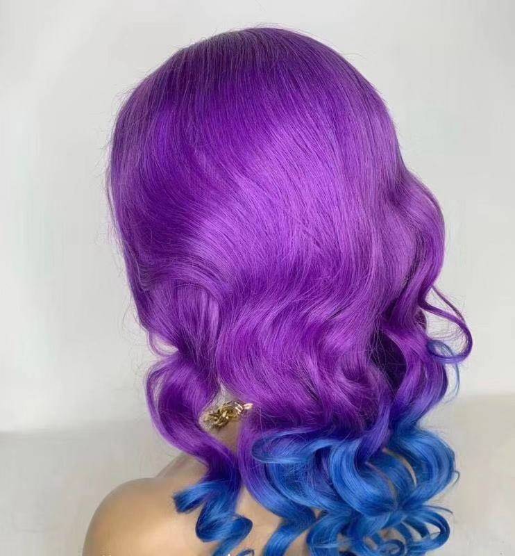 Color Wig for Sale Ombre Blonde Purple Green Yellow Pink WK110