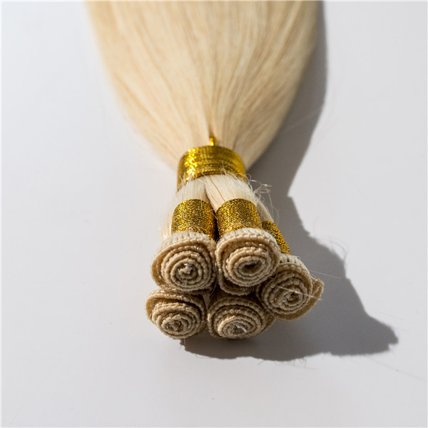 Premium quality cuticle intact human hair hand tied hair wefts ZJ0091
