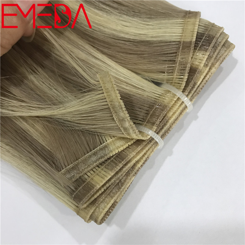 New product band weft best one donor virgin cuticle hair double drawn piano color YJ303