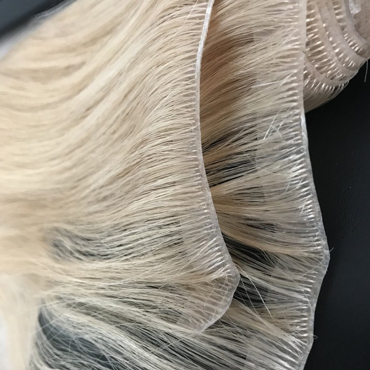 Injected PU weft hair extension new technique 0.02cm thickness WK036