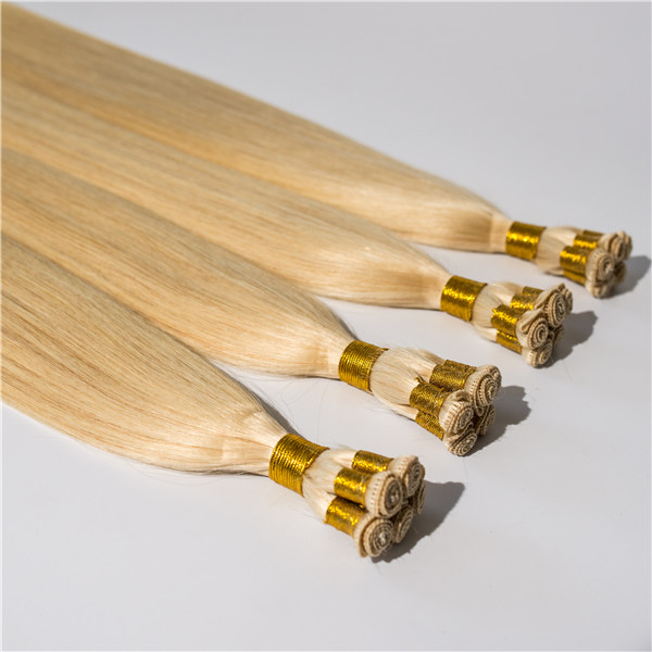 Top quality virgin hair hand tied hair weft          ZJ0085