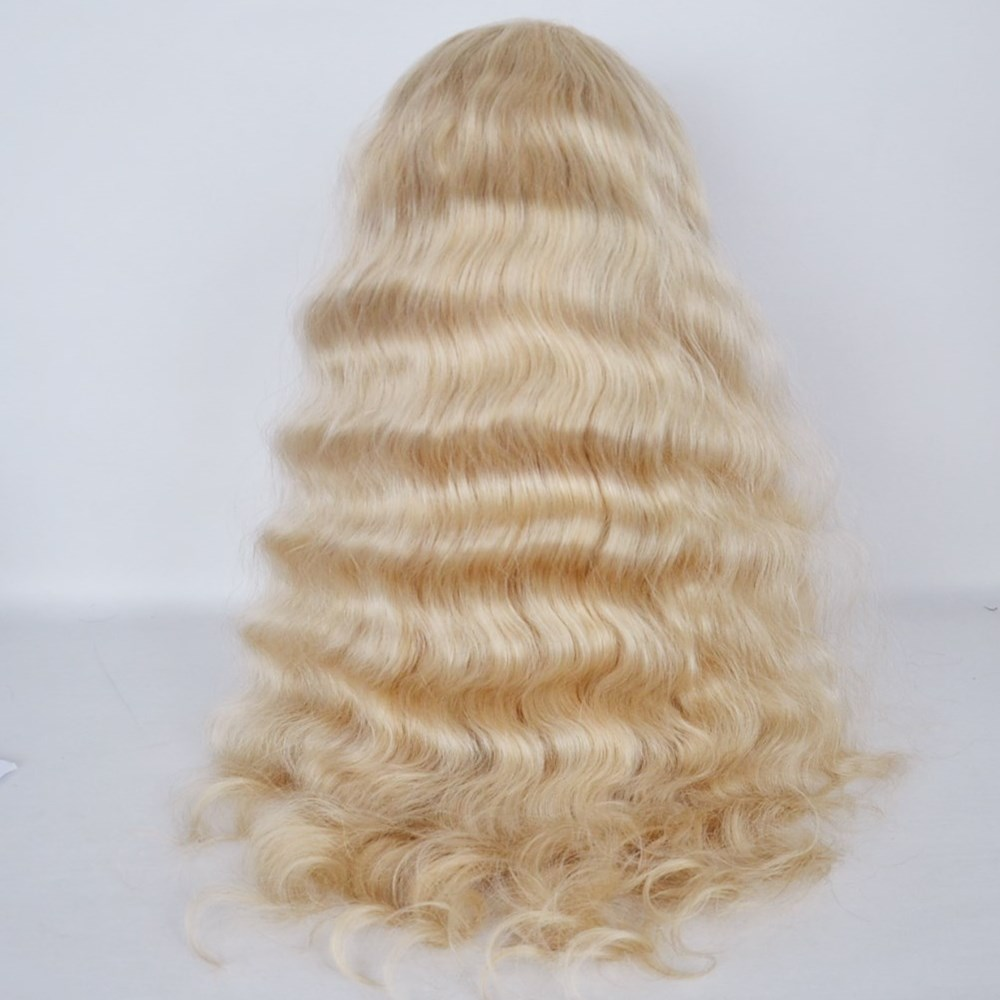 Indian human hair full lace wig,full lace wig 1b/30 highlights color,613 lace front wig hn340